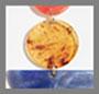 оранжевый мрамор