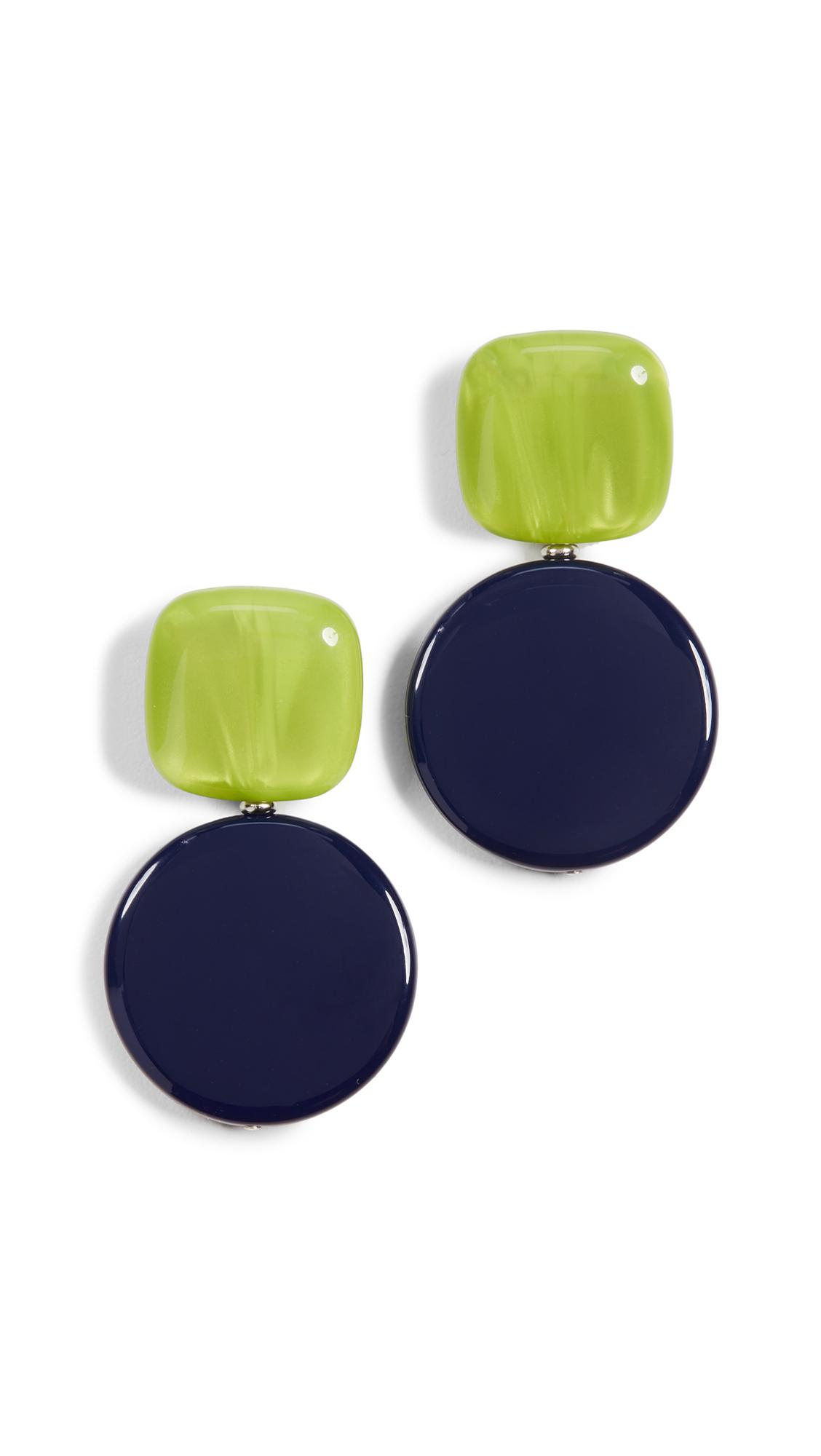 Rachel Comey Arc Earrings In Lime Blue
