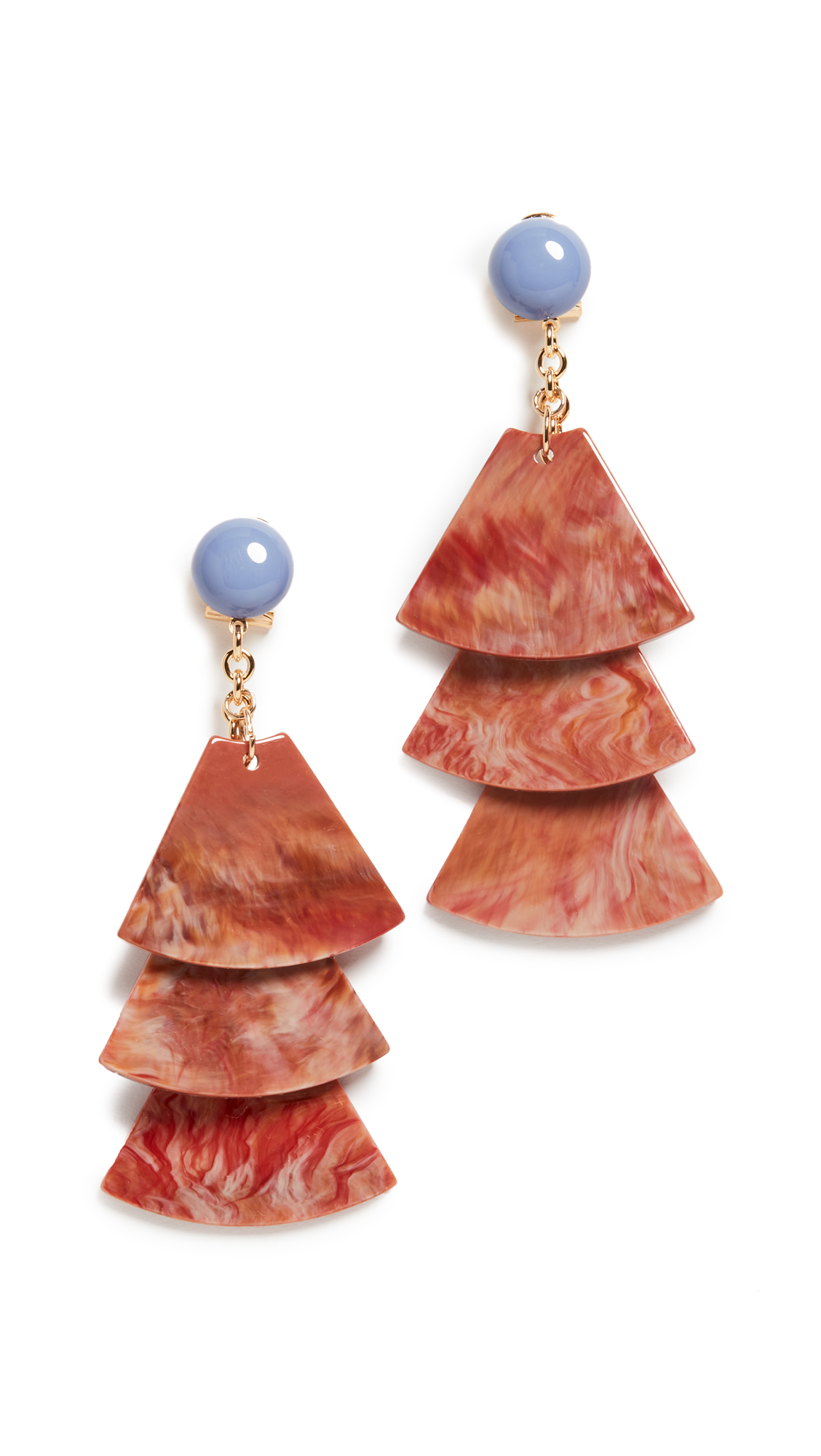 Rachel Comey Stoop Earrings In Brick Multi