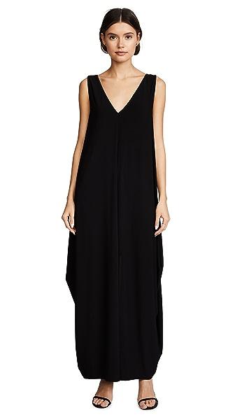 Rachel Zoe Arlene Draped Maxi Dress - Black
