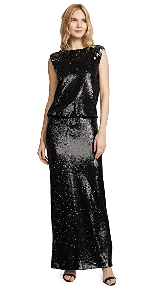 Rachel Zoe Colette Sequin Gown In Black