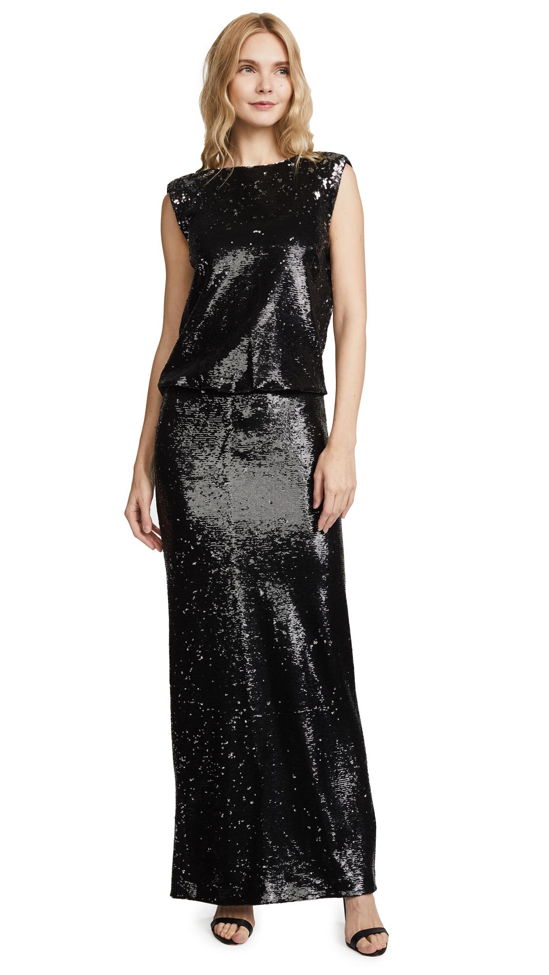 Rachel Zoe Colette Sequin Gown In Black