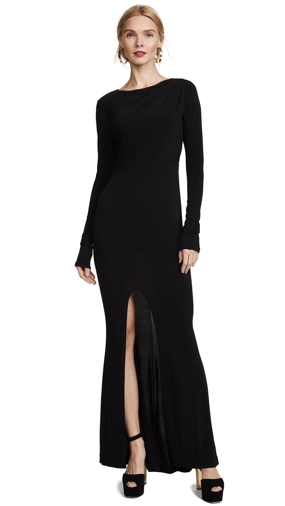 Rachel Zoe Long Sleeve Gown - Black