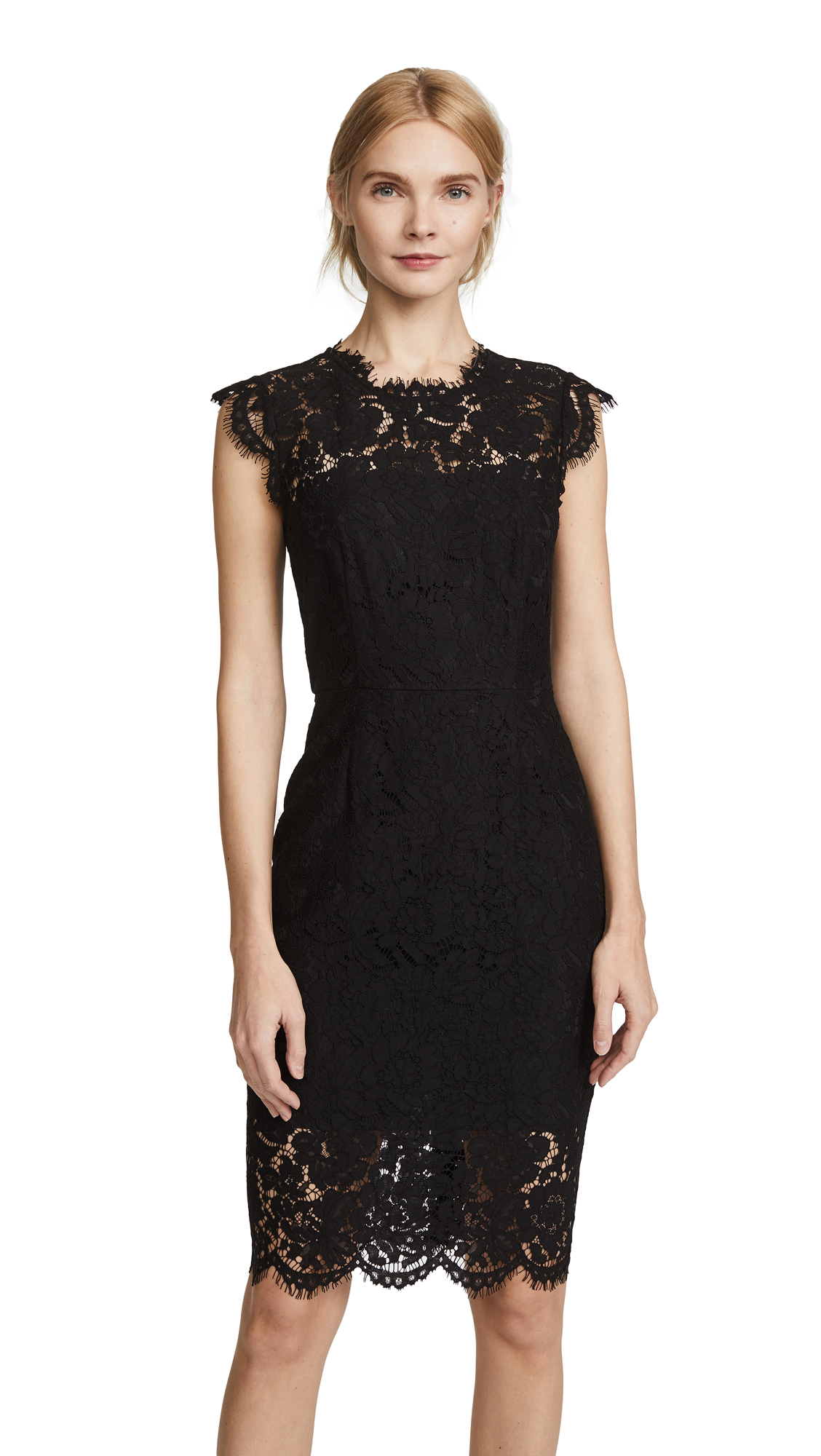Rachel Zoe Suzette Fitted Dress In Black
