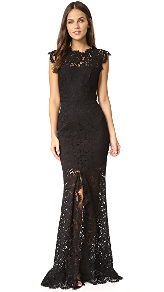 Rachel Zoe Estelle Cutout Maxi Dress In Black