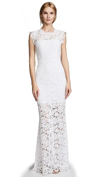 Rachel Zoe Estelle Cutout Maxi Dress - Pure White