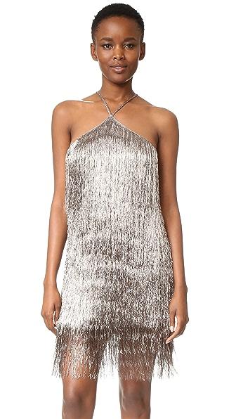 Rachel Zoe Metallic Fringe Dress