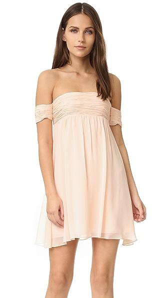 Rachel Zoe Off the Shoulder Dress - Blush