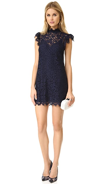 Rachel Zoe High Neck Lace Dress
