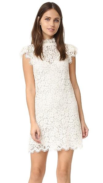 Rachel Zoe Кружевное платье с высоким вырезом
