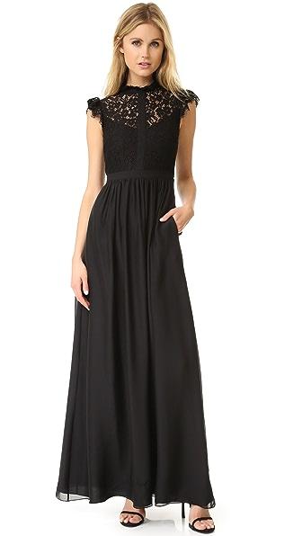 Rachel Zoe Lace Paneled Gown