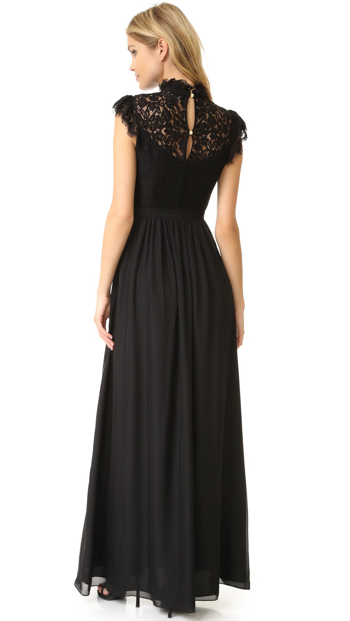 a768a8b16b9 Rachel Zoe Lace Paneled Gown