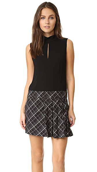 Rachel Zoe Naya Drop Waist Pleated Dress