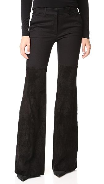 Rachel Zoe Gigi Suede Pants - Black