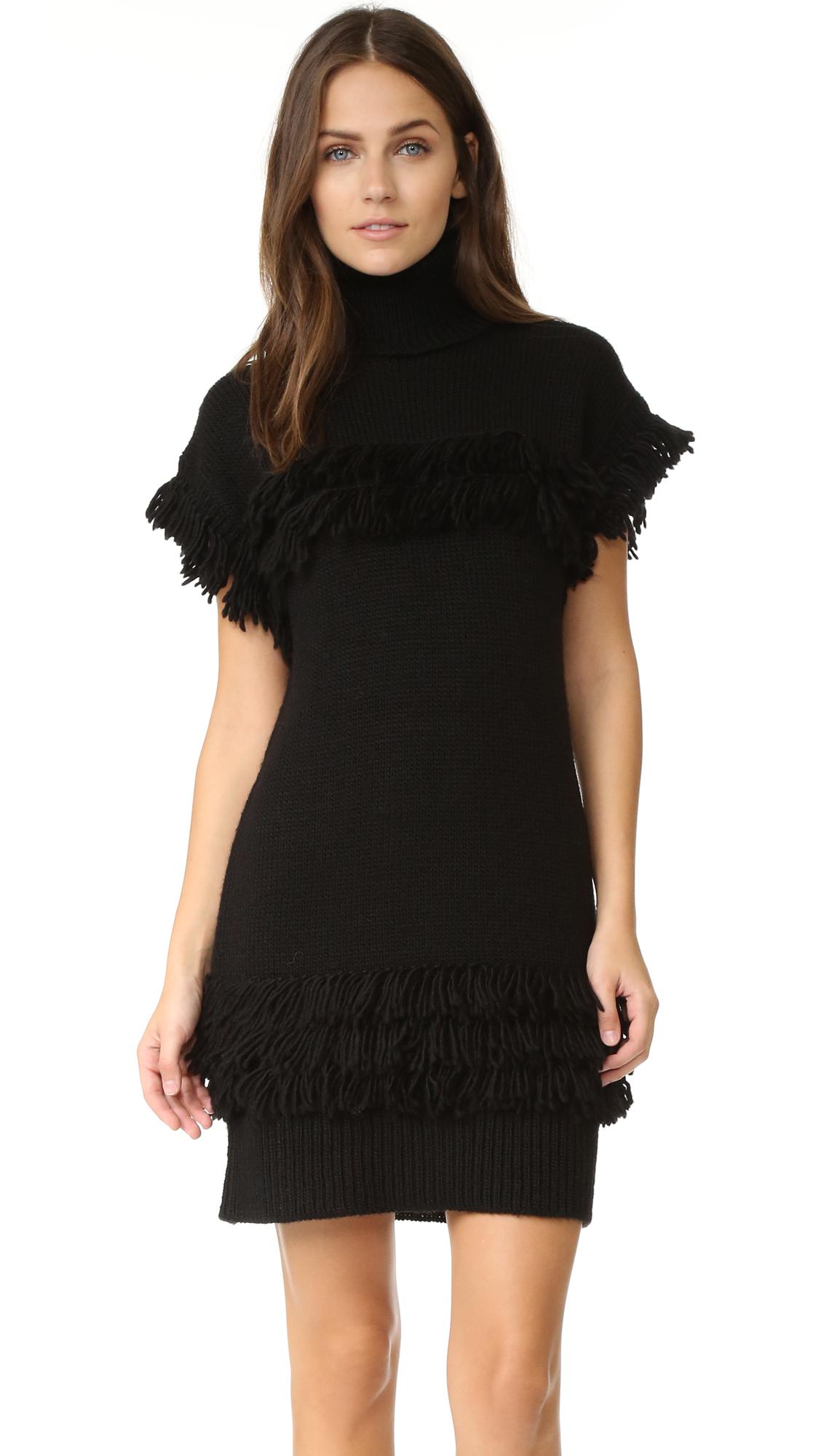 rachel zoe female rachel zoe teegan sweater dress black