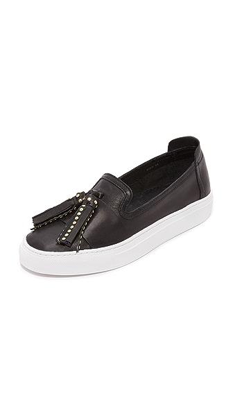 Rachel Zoe Bern Tassel Slip On Sneakers - Black
