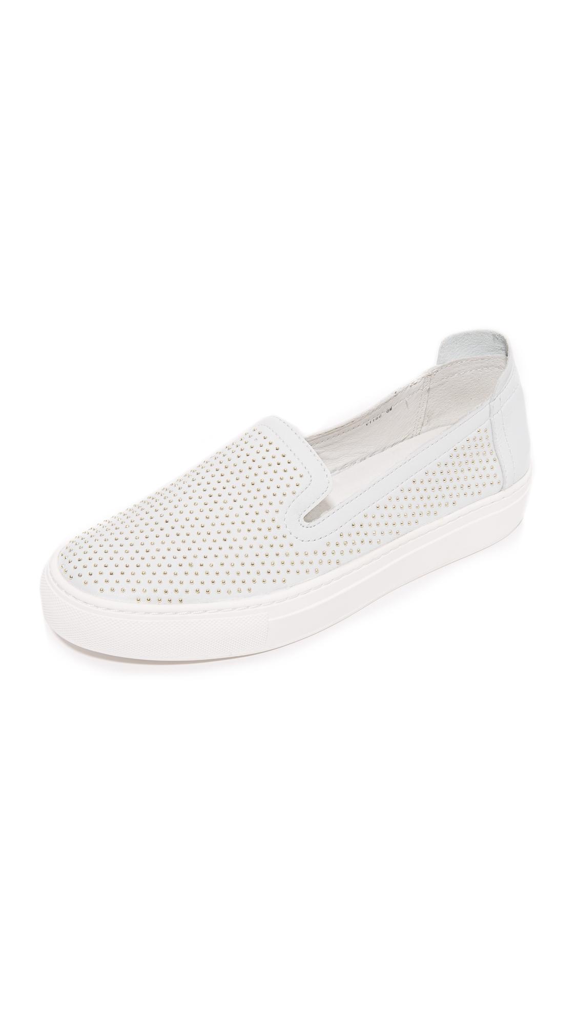 rachel zoe female rachel zoe burke studded slip on sneakers white