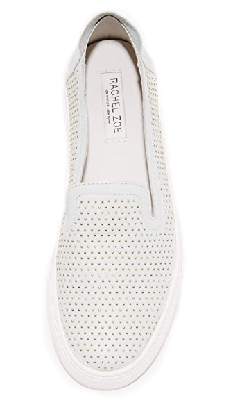 RACHEL ZOE Burke Studded Slip On Sneakers