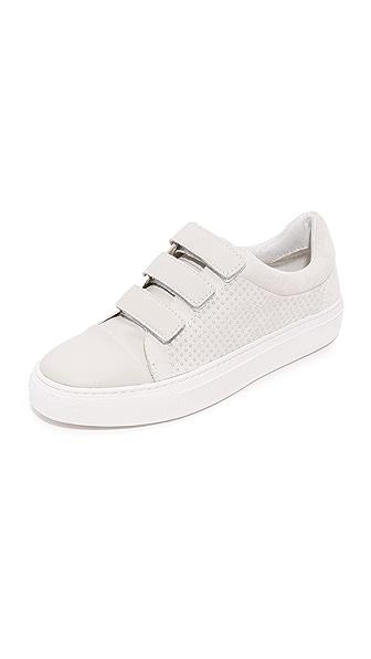 Rachel Zoe Boe Velcro Sneakers - White
