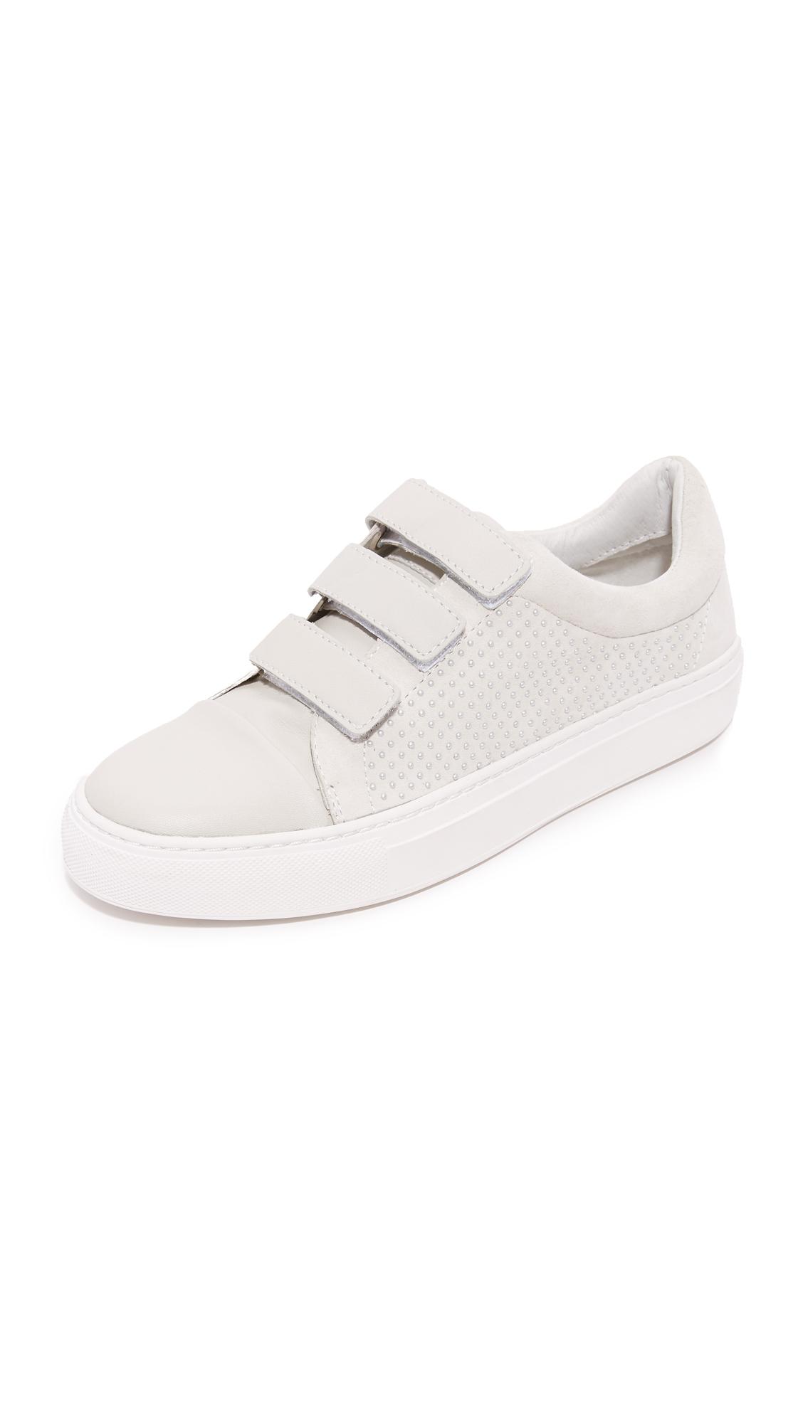 rachel zoe female rachel zoe boe velcro sneakers white