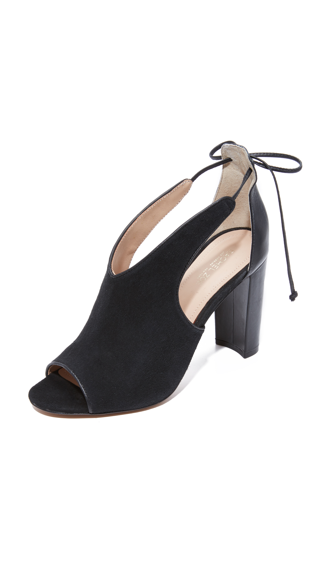 Rachel Zoe Stephanie Peep Toe Booties - Black