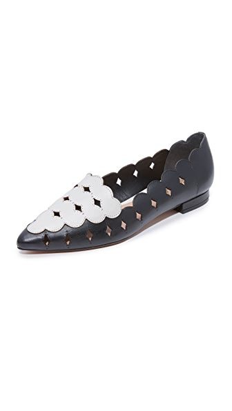 Rachel Zoe Audrey Loafers In Pearl/Black