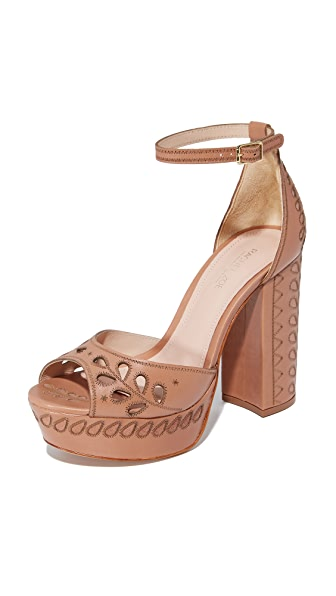 Rachel Zoe Juliana Platform Sandals - Toasted