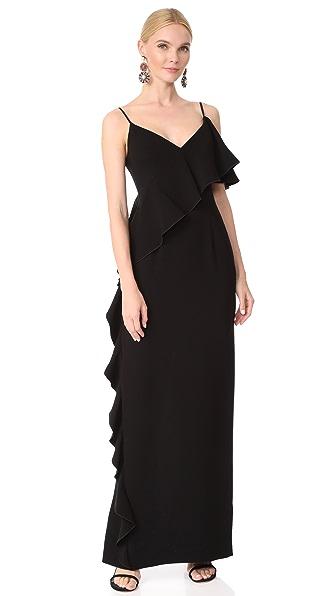 Rachel Zoe Moore Gown In Black