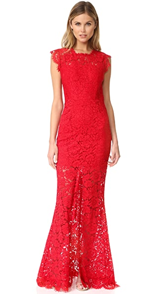 Rachel Zoe Estelle Cutout Back Maxi Dress