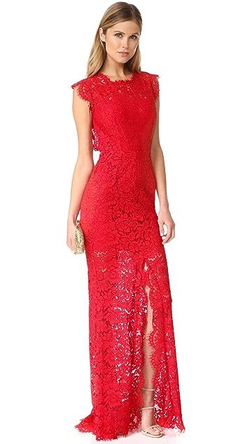 Rachel Zoe Estelle Cutout Back Maxi Dress