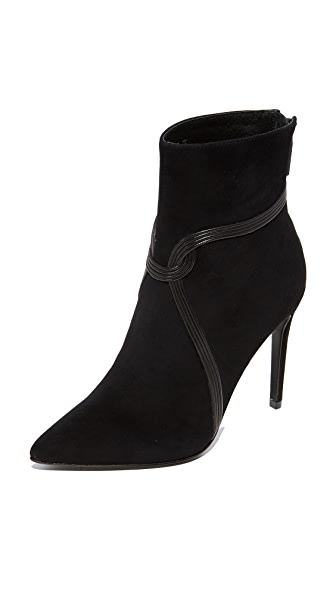 Rachel Zoe Liana High Heel Pointed Toe Booties - Black