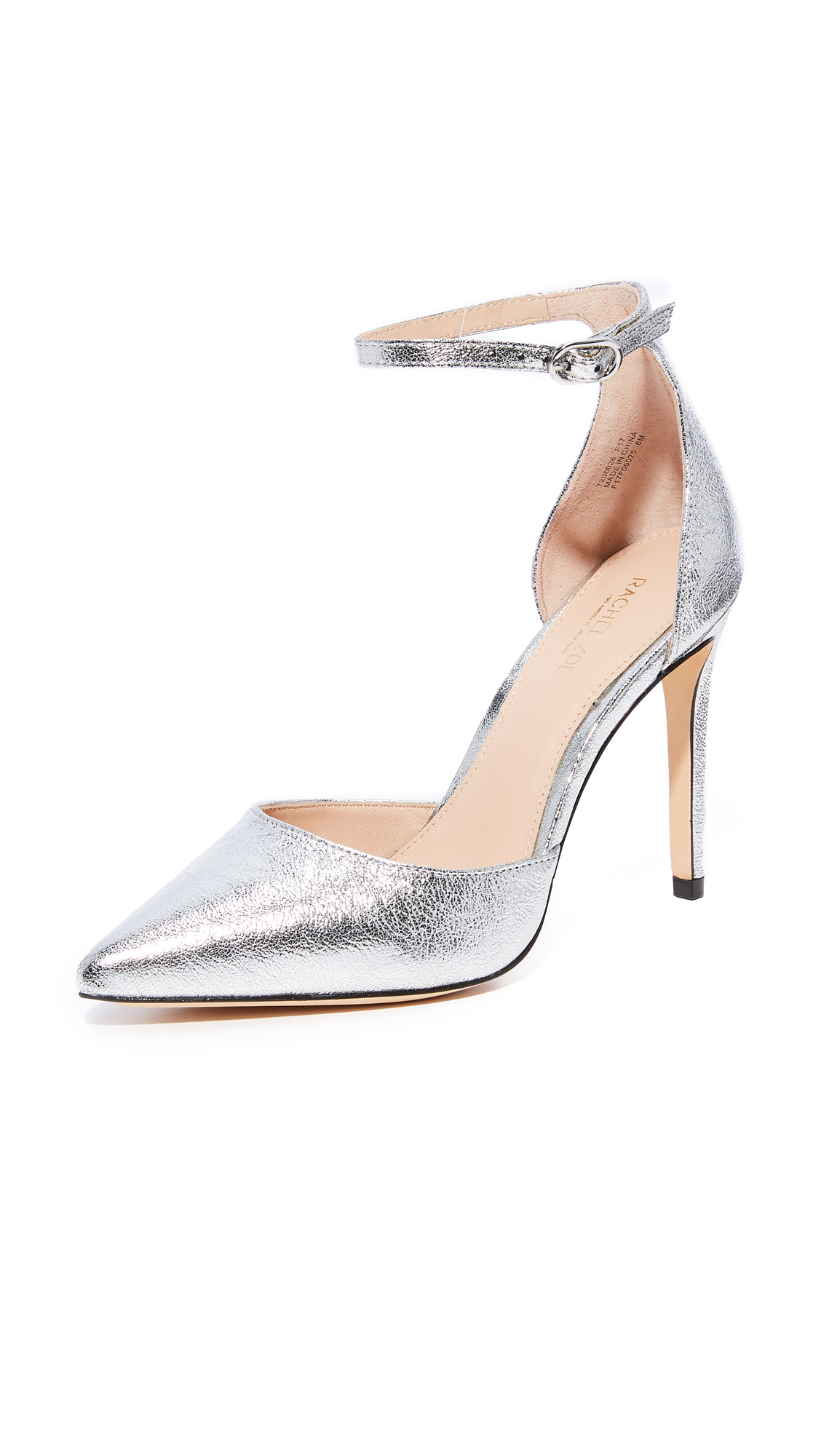 Rachel Zoe Hayworth Ankle Strap Pumps - Silver