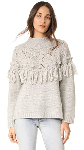 Rachel Zoe Shirley Sweater - Soft Grey