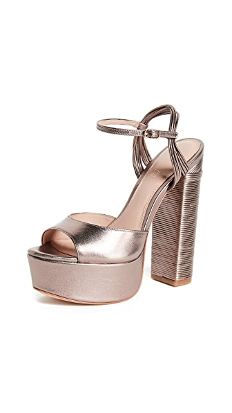 Rachel Zoe Willow Platform Sandals - Blush