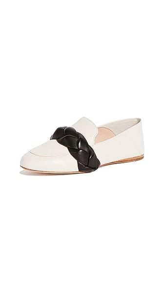 Rachel Zoe Dakota Braided Convertible Loafers In Ecru/Black