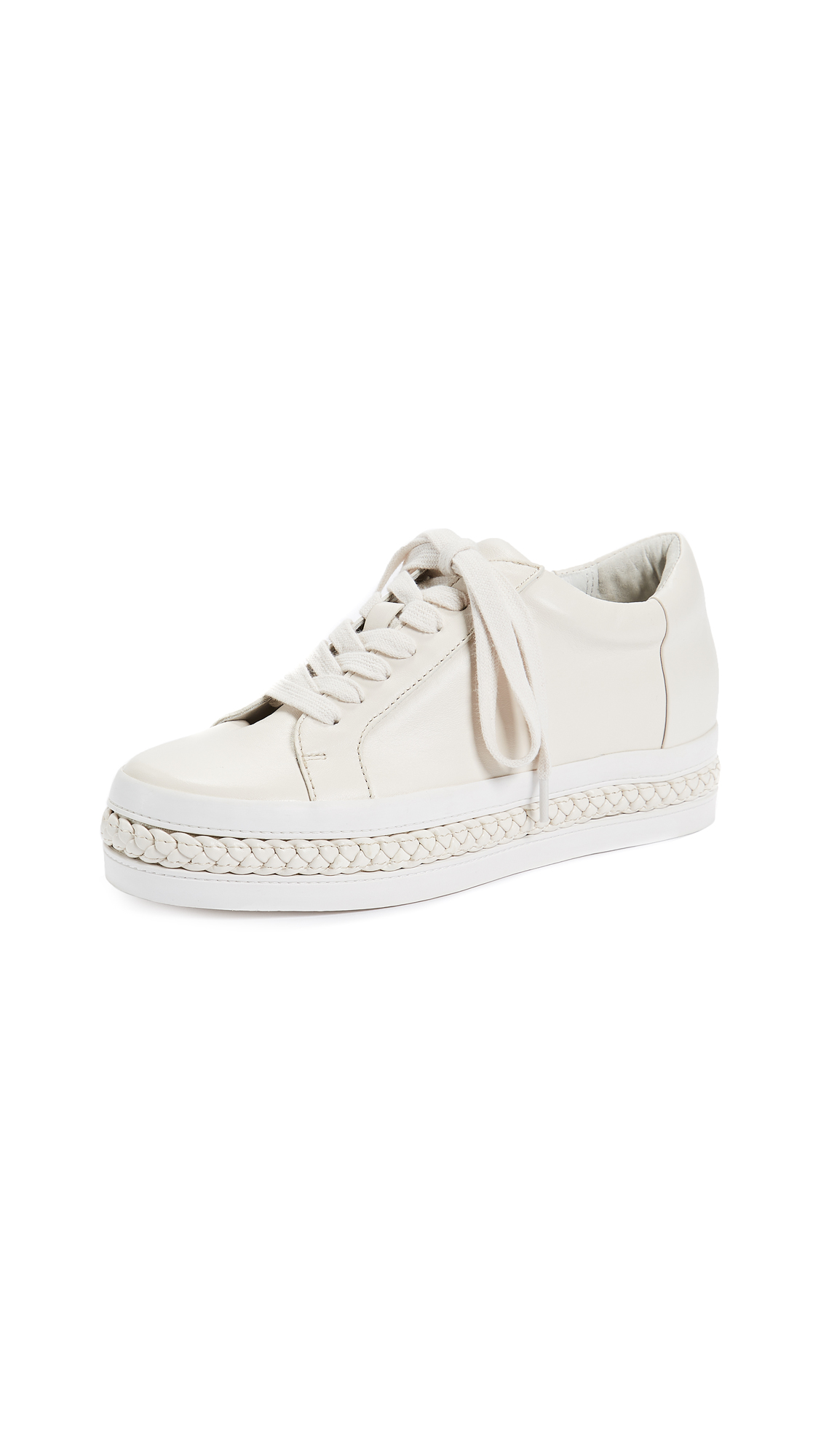 Rachel Zoe Collette Braid Sneakers - Ecru/Ecru
