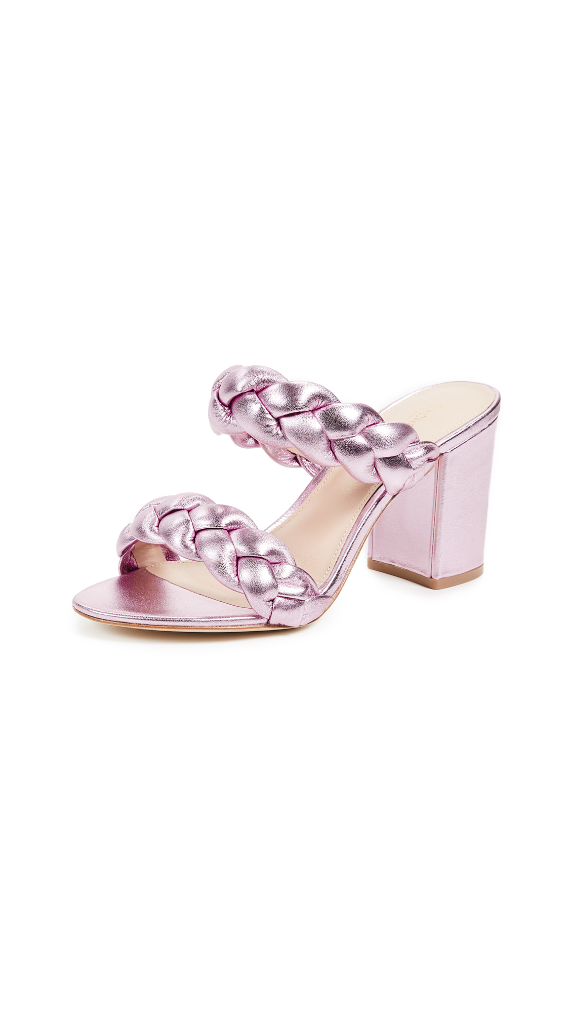 Rachel Zoe Demi Braid Sandals - Pale Pink