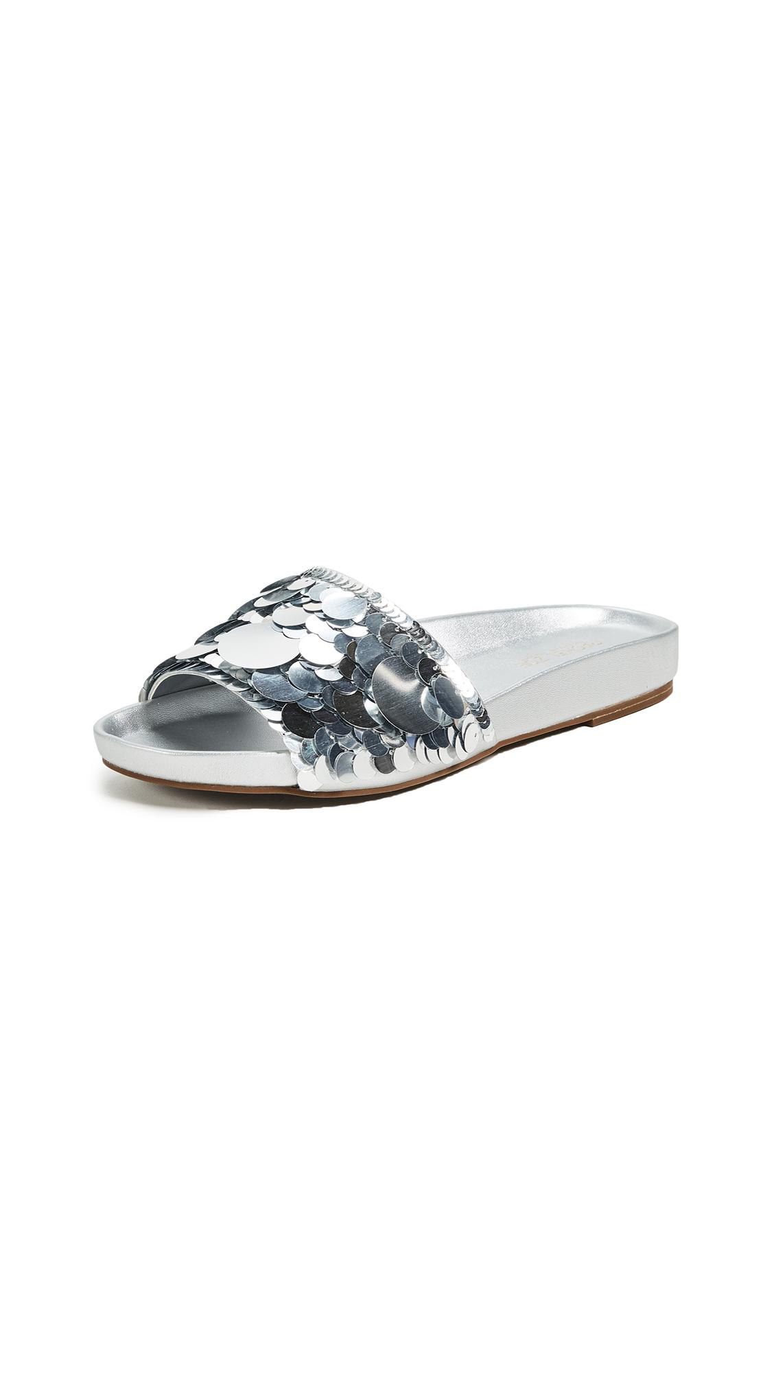 Rachel Zoe Stella Slides - Silver