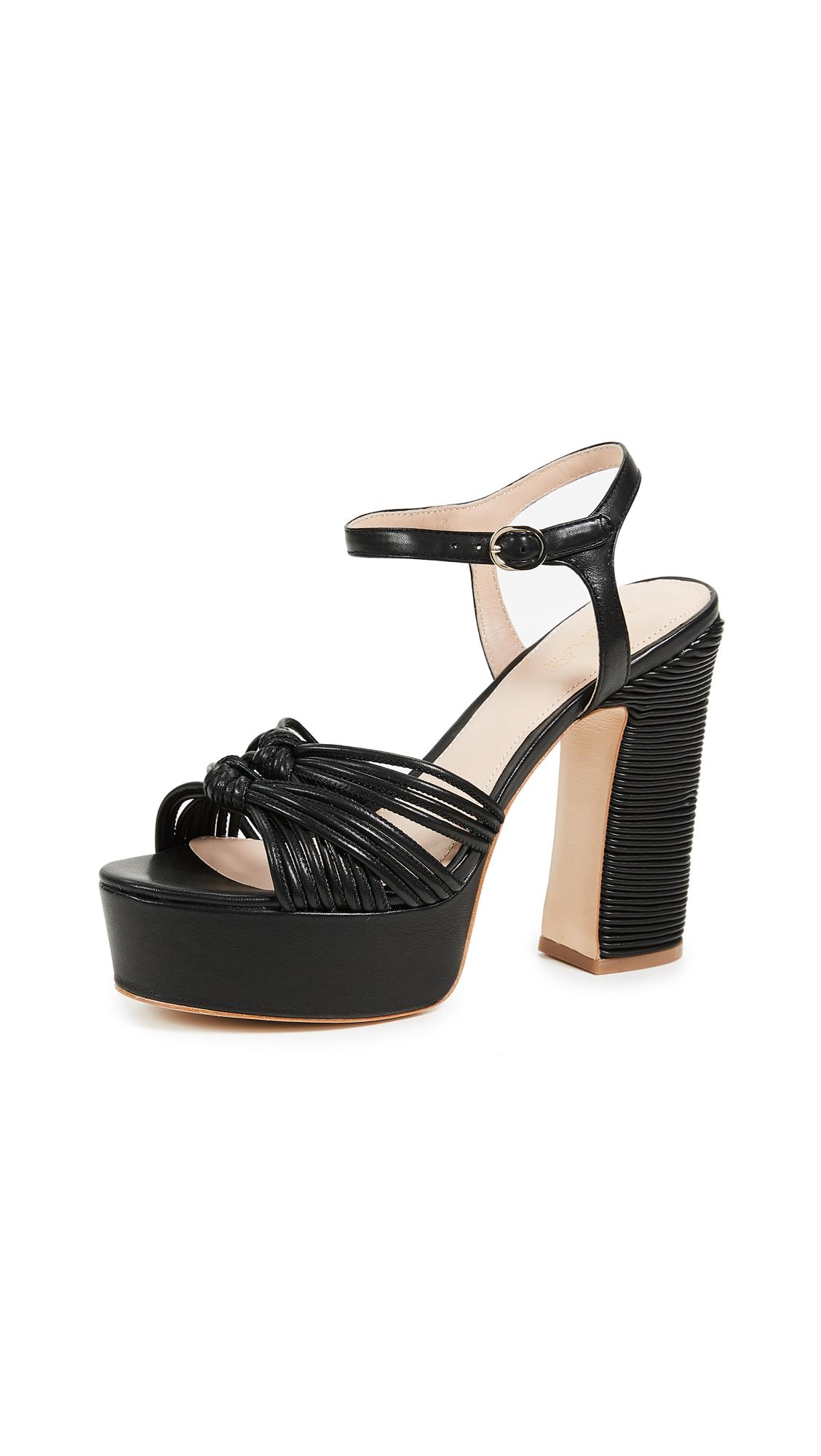 Rachel Zoe Avery Platform Sandals - Black