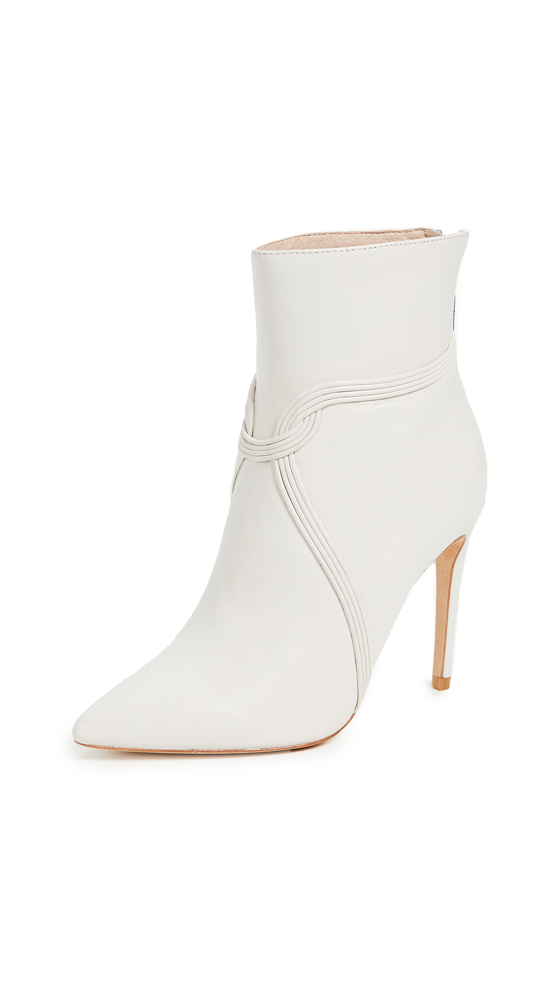 Rachel Zoe Liana Point Toe Booties - Ecru