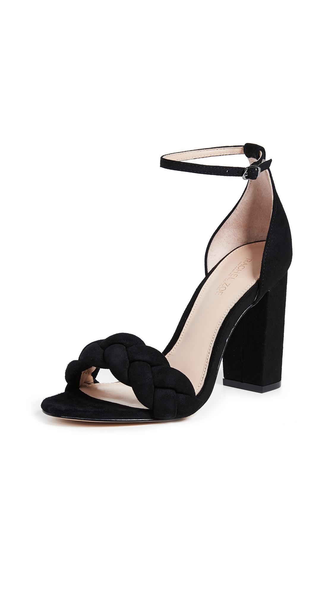 Rachel Zoe Ashton Block Heel City Sandals - Black