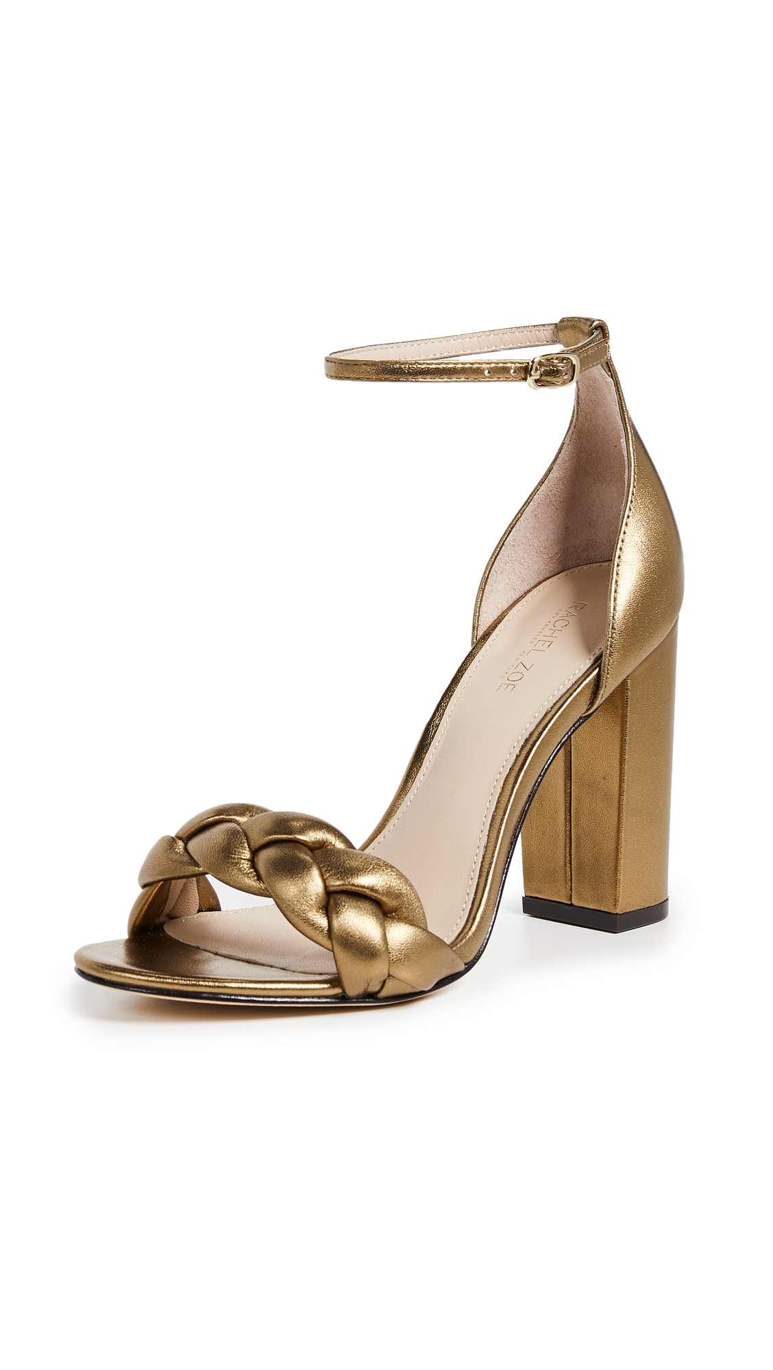Rachel Zoe Ashton Block Heel City Sandals - Dark Gold