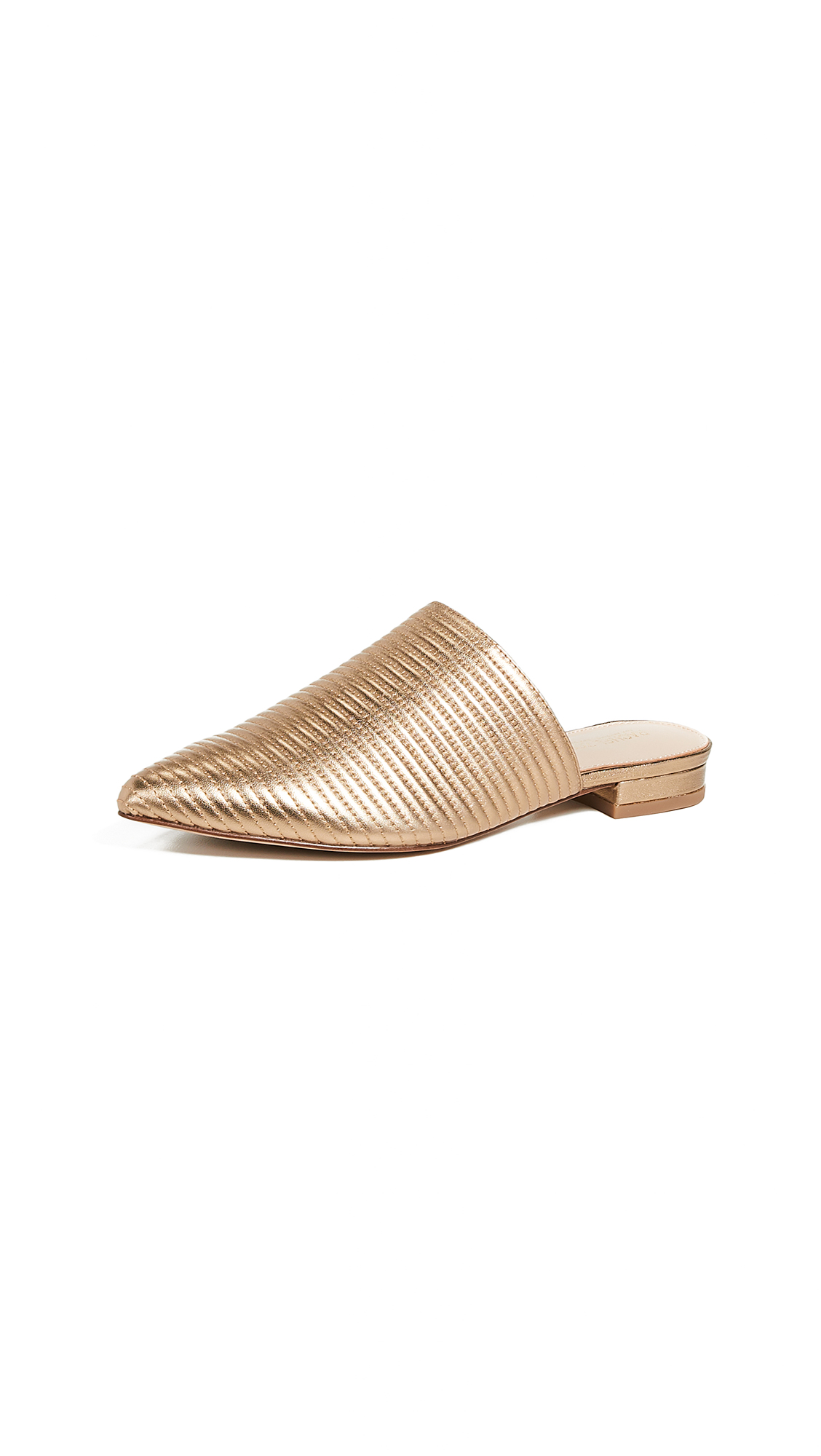 Rachel Zoe Luna Flat Mules - Gold Sand
