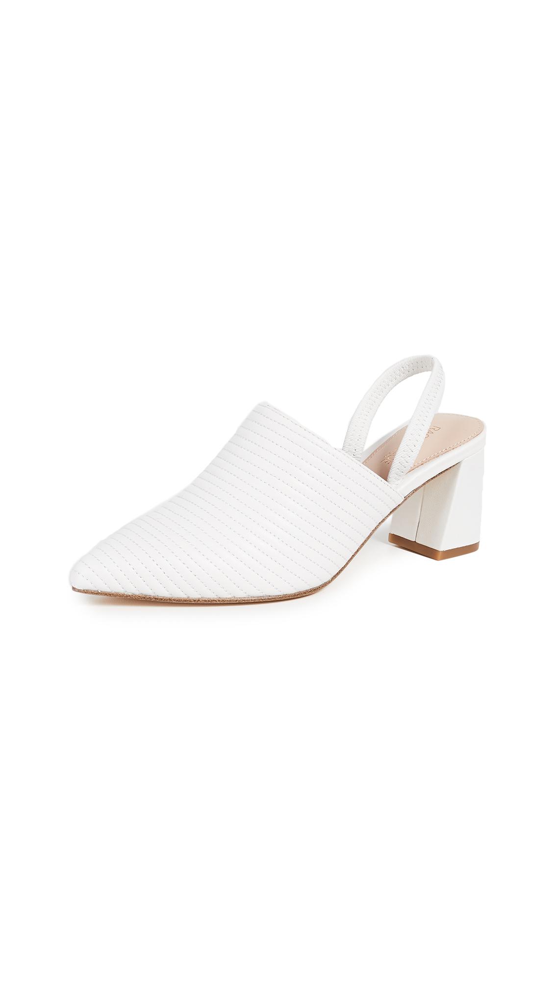Rachel Zoe Liza Block Heel Mules - White