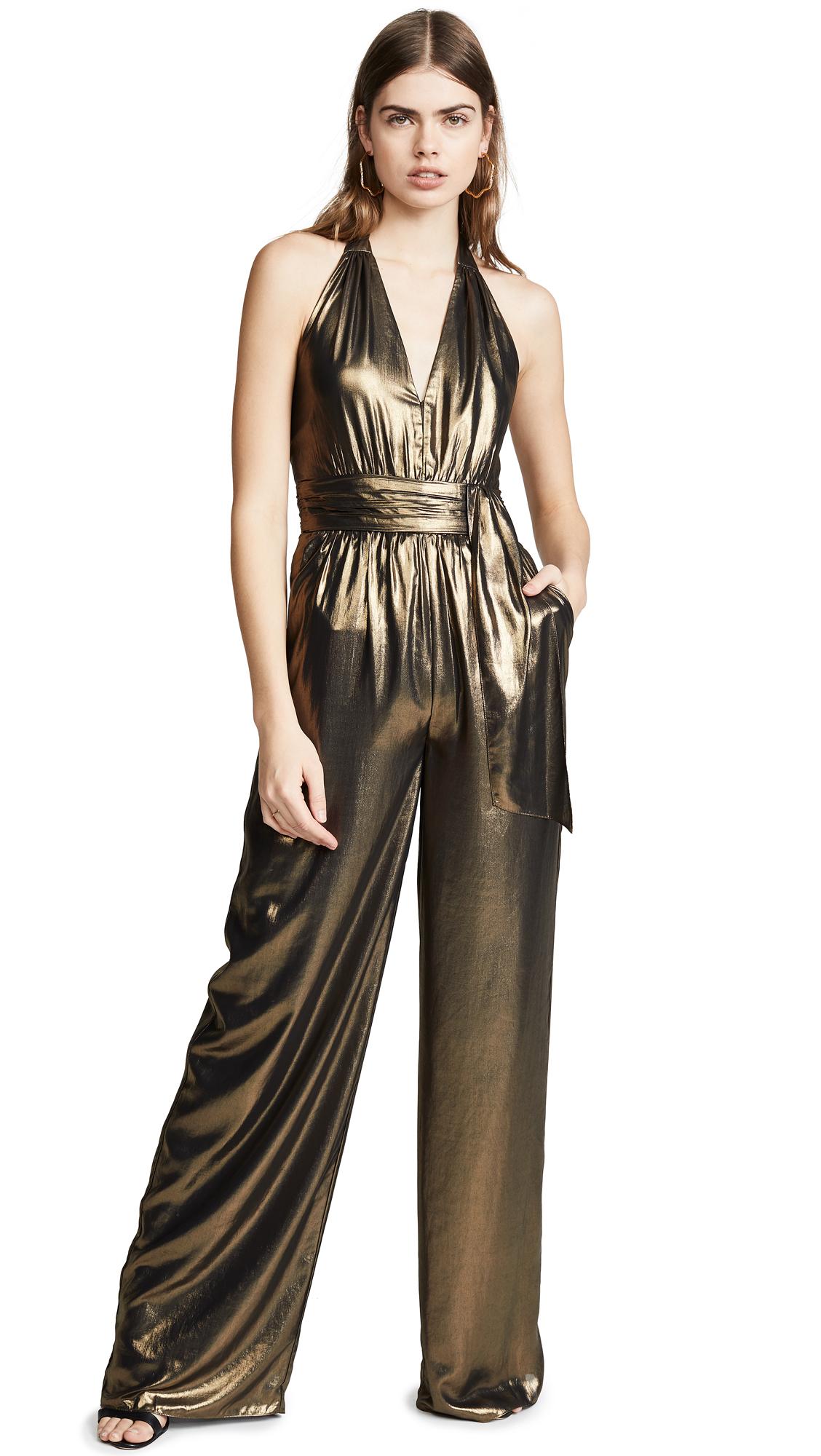 Rachel Zoe Renee Jumpsuit - Gold