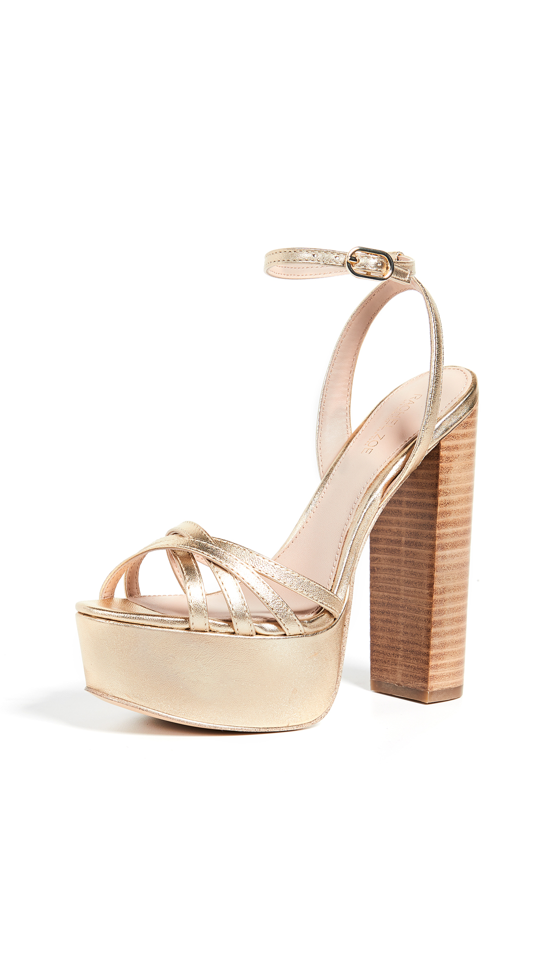 Rachel Zoe Charlotte Platform Sandals - Light Gold