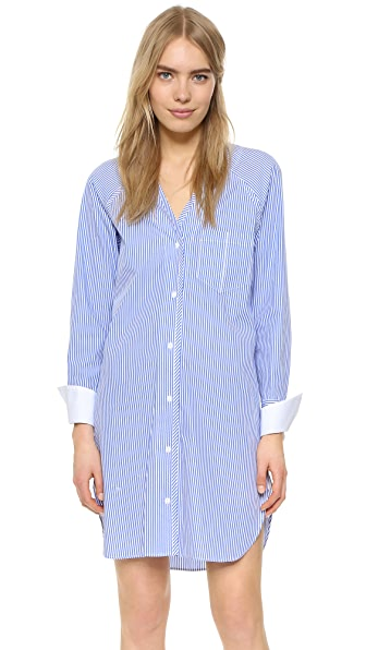 Rag & Bone Shults Dress - Blue/White