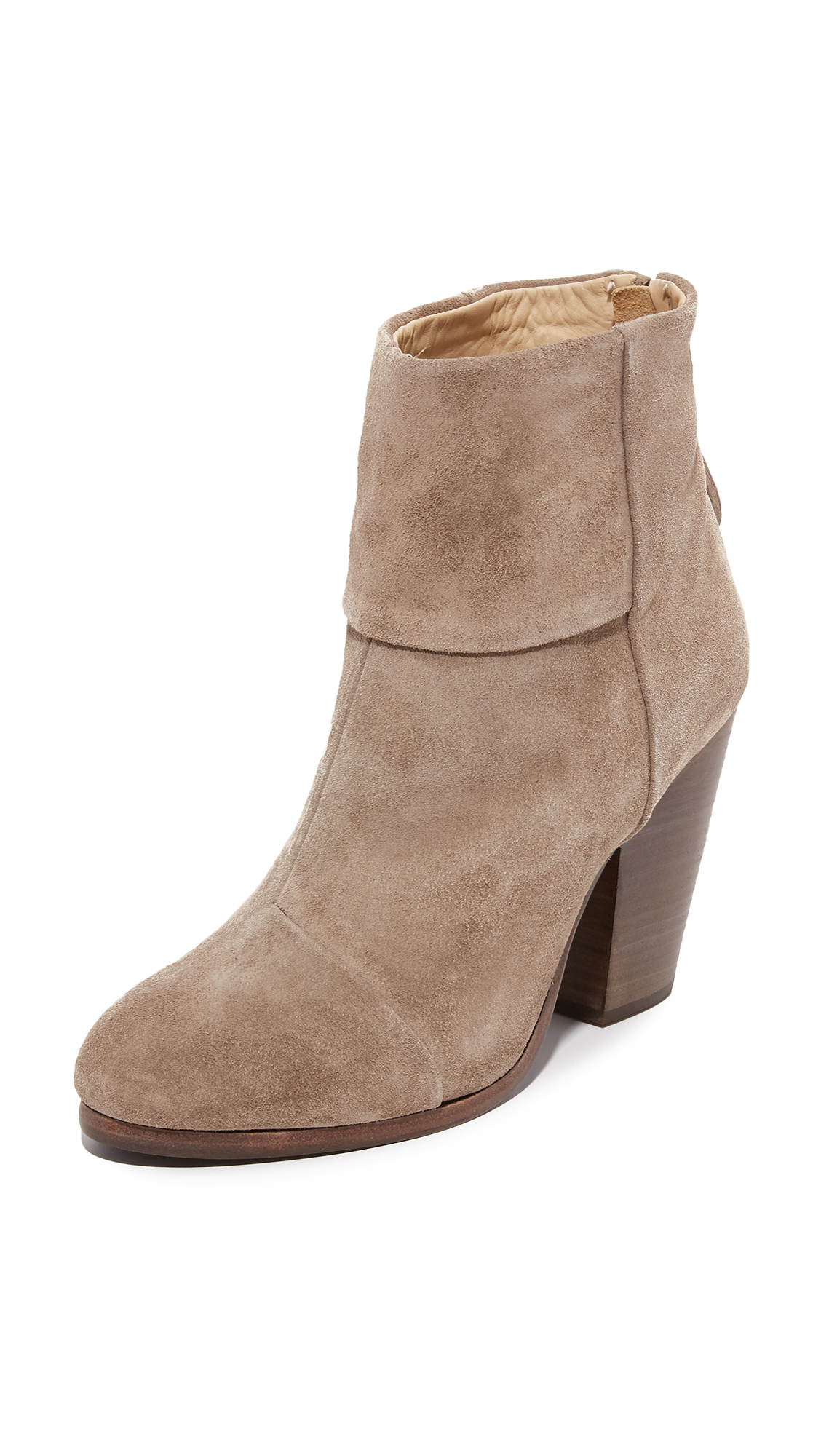 Rag & Bone Classic Newbury Booties - Warm Grey