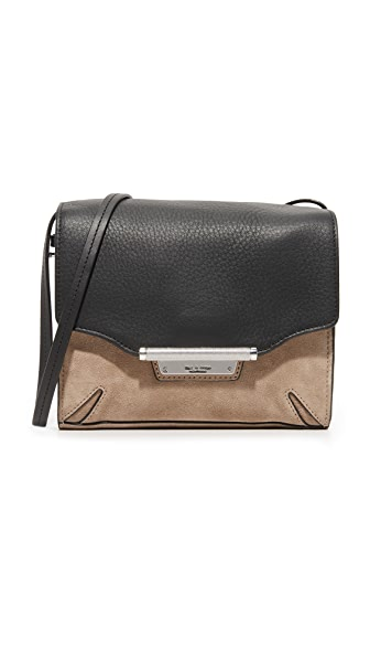 Rag & Bone Colorblock Moto Cross Body Bag - Warm Grey