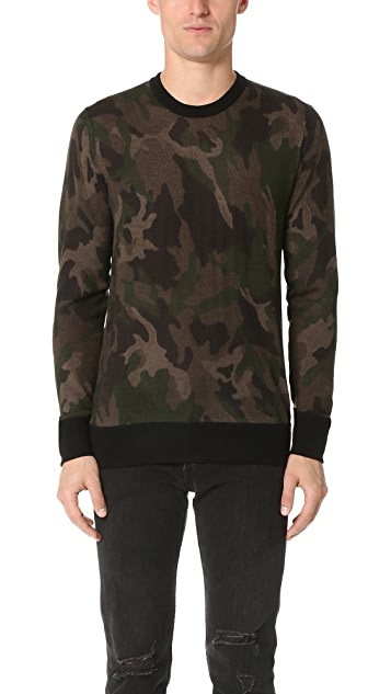 Rag & Bone Camo Crew Sweater